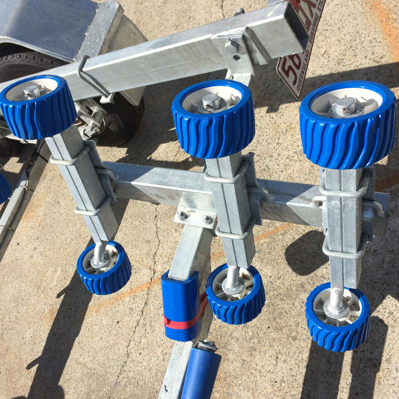 Adjustable Triple Wobble Roller Assembly