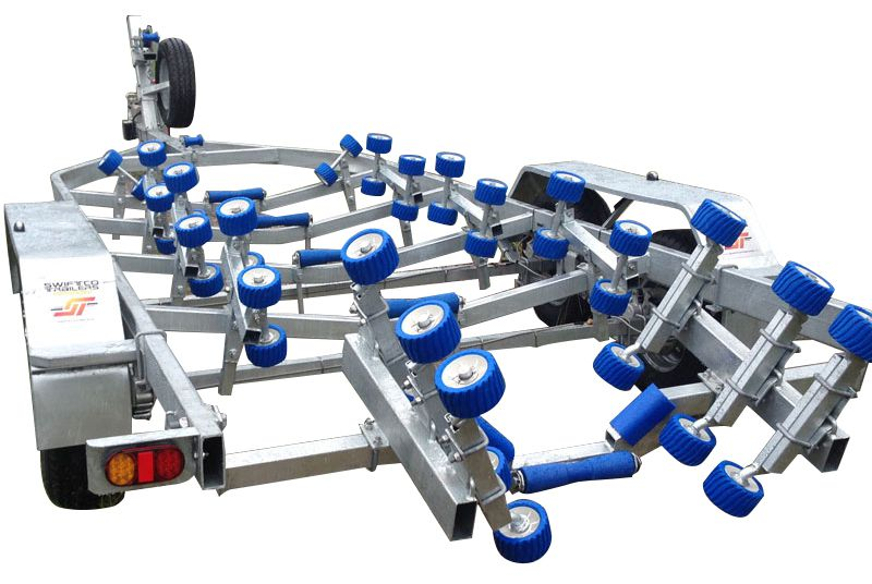 Swiftco 7.2 Metre Boat Trailer Wobble Rollers
