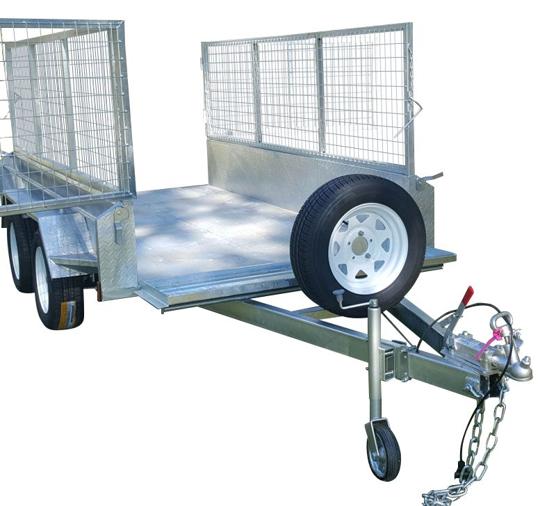 10ft x 6ft DUAL AXLE GALVANISED BOX TRAILER 400mm SIDES - 2000Kg HIRE TRAILER