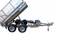 8ft x 5ft DUAL AXLE GALVANISED HYDRAULIC TIPPER TRAILER 600mm CAGE - 3000Kg Rated 0