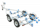 Swiftco 5 Metre Dual Axle Boat Trailer Wobble Rollers 0