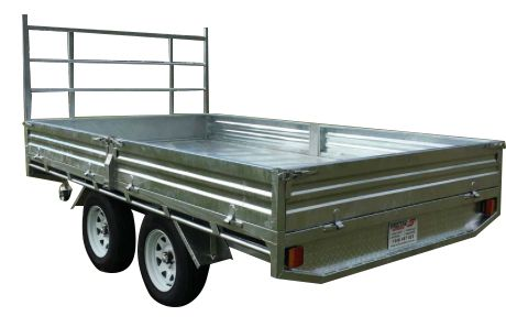 15ft x 7ft GALVANISED FLAT BED TRAILER 3000KG with 300mm SIDES