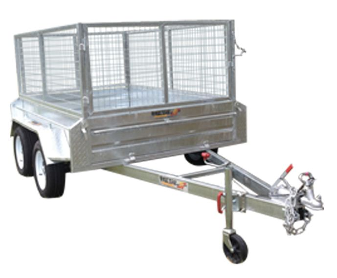 8ft x 5ft DUAL AXLE GALVANISED BOX TRAILER 400mm SIDES - 2000Kg Rated