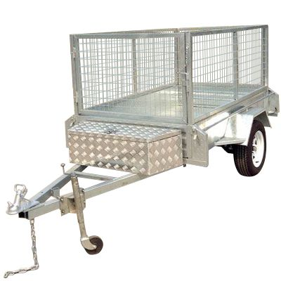 8ft x 5ft - TILT GALVANISED BOX TRAILER 300mm SIDES - 750KG Rated